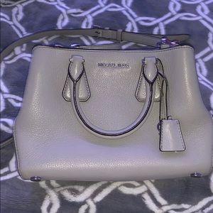 Michael Kors Light Grey Leather Midsized handbag.